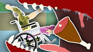EATEN BY A MONSTER!! | Happy Wheels