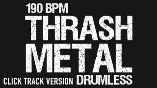 Thrash Metal Drumless Backing Track With Click Track