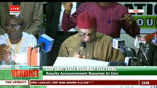 INEC Declares Emeka Ihedioha Winner Of Imo Governorship Poll |The Verdict|