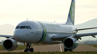 preview picture of video 'F-HBNA Transavia Airbus A320 at Strasbourg Entzheim Airport [SXB-LFST]'