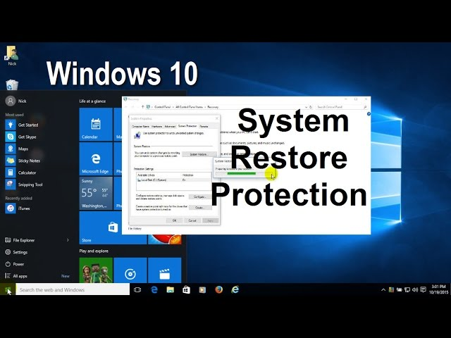 Windows 10:  How to Enable, Create and Perform a System Restore Point - Free & Easy