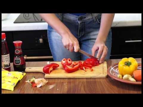 Баклажаны в кисло-сладком соусе видеорецепт