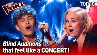 They turned their Blind Audition into a CONCERT on The Voice   TOP 10