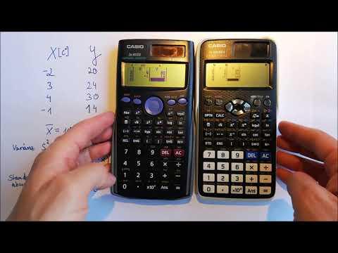 Mittelwert, Varianz, Standardabweichung mit Taschenrechner(Casio fx85ES und Casio fx991DE X)