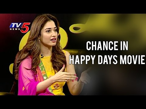 Tamannaah about Happy Days Movie