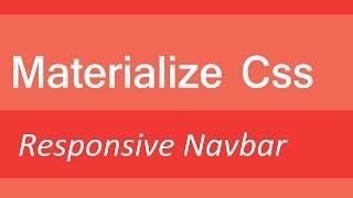 Materialize CSS - Responsive Navbar