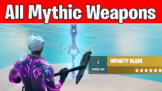 Fortnite Mythic Weapons Locations (How to Mark weapons of different rarity in Fortnite Challenges)