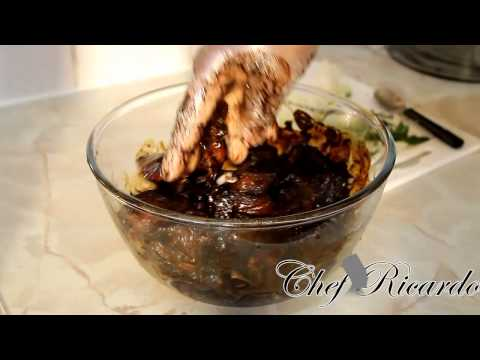 Best Jamaican Brown Stew Pork Served With Rice And Peas | Recipes By Chef Ricardo
