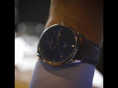 Mats Meier Castor herenhorloge blauw / bruin