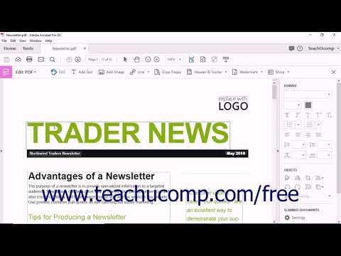 Acrobat Pro DC Tutorial The Edit PDF Tool - Adobe ... - YouTube