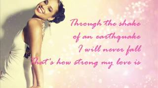 Alicia Keys - That's how strong my love is LYRICS