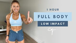 1 Hour FULL BODY WORKOUT At Home | Low Impact & No Jumping