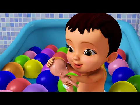 यह स्नान का समय है – Playing with Bath Toys | Hindi Rhymes for Children | Infobells