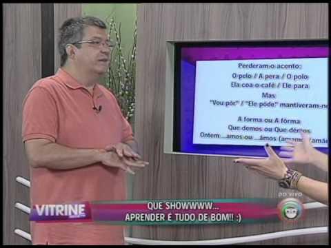 Participação do Prof. Dílson Catarino no programa Vitrine Revista, com Lu Oliveira, dia 19/01