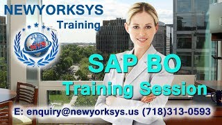 SAP Business Objects Training Online Tutorial | BO Videos for beginners