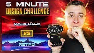 5 MINUTE DESIGN CHALLENGE Vs SUBSCRIBERS! ⏰ (GFX Battle)