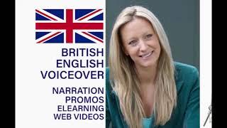 I will record a british female voice over, english voiceover