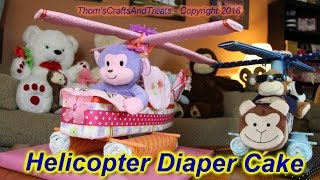 Helicopter Diaper Cake