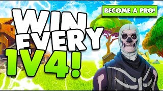 How To Win Every 1v4 Fight! | Win More Fights! | Tips & Tricks | Fortnite Battle Royale