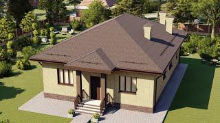 Проект дома 140-D, Площадь дома: 140 м2, Размер дома:  12x16,1 м
