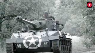 这才是最精彩的坦克对攻!美军坦克在树林里被德军坦克伏击,一场坦克大战拉开序幕!