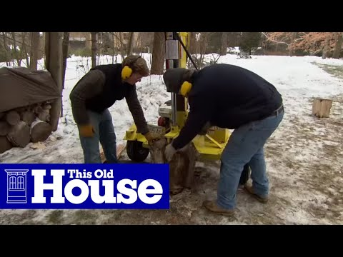 How To Safely Split Logs For Firewood