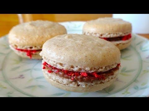 How to make Chocolate Strawberry Macaron / Recipe チョコレートいちごマカロン レシピ