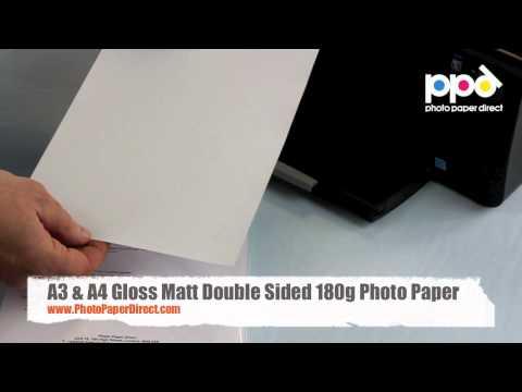A4 Double Sided Gloss Matt 180g Photo Paper