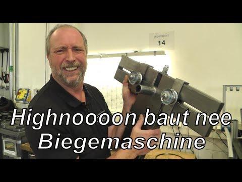 Highnoooon baut nee Biegemaschine