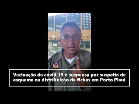 População denuncia distribuição irregular de senhas para vacinação e Polícia é acionada em Porto