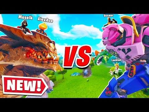MUSELK & I RODE THE MONSTER In The MONSTER VS ROBOT Fortnite EVENT! Ft. Lachlan & Boomer
