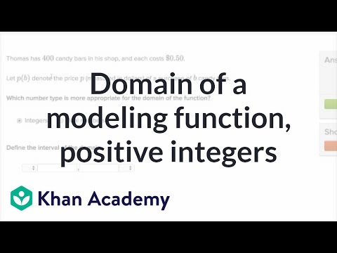 Worked example: determining domain word problem (positive