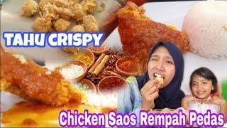 Makan Siang ROMANTIS... *Chicken Saos Rempah Pedas + Tahu Goreng Crispy*