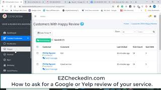 How to ask for a Google review using EZCheckedIn apps.