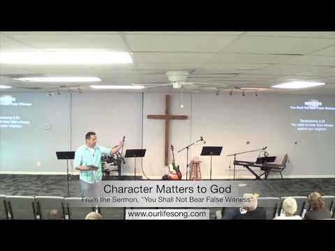 Character Matters to God