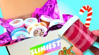 HUGE CHRISTMAS SLIME REVIEW FROM THE NAVALUA FAMILY !!! *HONEST REVIEW* TNFSLIMEATORY SLIME REVIEW!!
