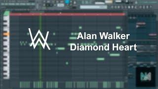 Alan Walker - Diamond Heart (FL Studio, Piano Cover) + FLP