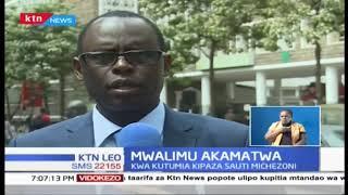 Mwalimu wa shule ya msingi akamatwa kwa kutumia kipaza sauti michezoni