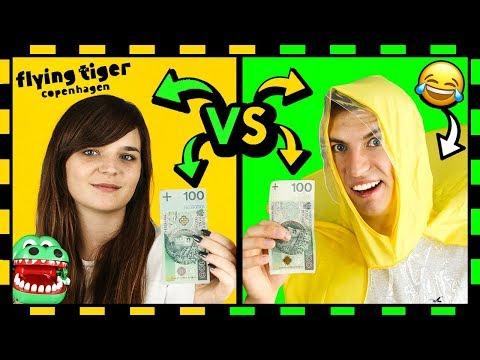 KTO z nas LEPIEJ WYDAŁ 100 zł na ŚMIESZNE GADŻETY 😂 z Tiger'a! ◉_◉