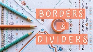 BORDER DESIGNS ON PAPER 🌼 TEXT DIVIDERS & EASY BORDER DESIGNS FOR PROJECTS 🌼  PRETTY TUMBLR NOTES