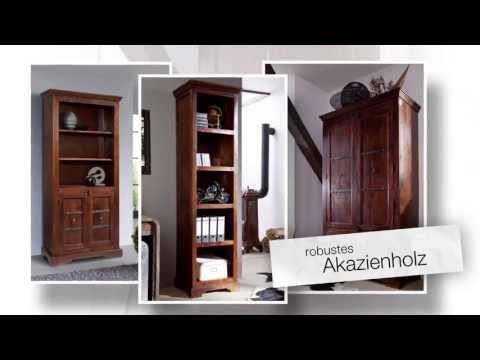Büromöbel im Kolonialstil aus Massivholz von www.massivmoebel24.de - Design OXFORD