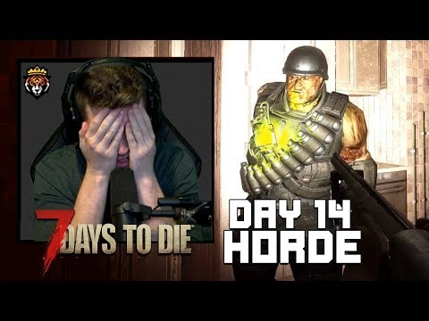 Day 14 Horde - They Got Inside!! (Hardest Difficulty 7 Days to Die Multiplayer #10)