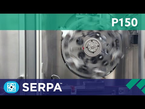 P150 Intermittent cartoner running multiple pouches – Serpa Packaging Solutions