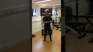 Isometric 'Modified Wall Press' exercise for Glute Med activation