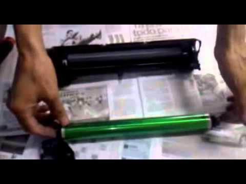 limpieza de cuchilla  o cilindro ricoh 1515 parte 1