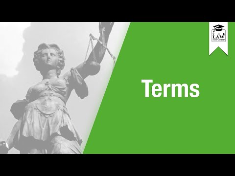 Contract Law - Terms