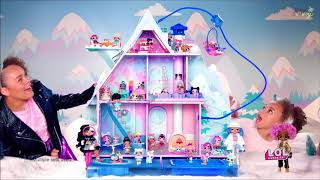 LOL lėlių žiemos namas Disco + 95 staigmenos | Winter Disco | MGA 562207