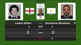 European Snooker Championships → Nicosia 2017 Lewis Gillen vs Demetris Nicolaou