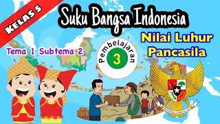Kelas 5 Tema 1 Subtema 2 Pembelajaran 3-Suku Bangsa Indonesia