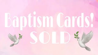 Baptism Cards | SOLD | Planning With Eli